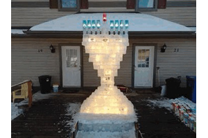 finished menorah