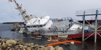 Police confirm vandalism after Coast Guard ship tumbled into water in N.S.