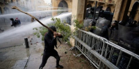 More than 150 injured after police, protesters clash in Lebanon's capital